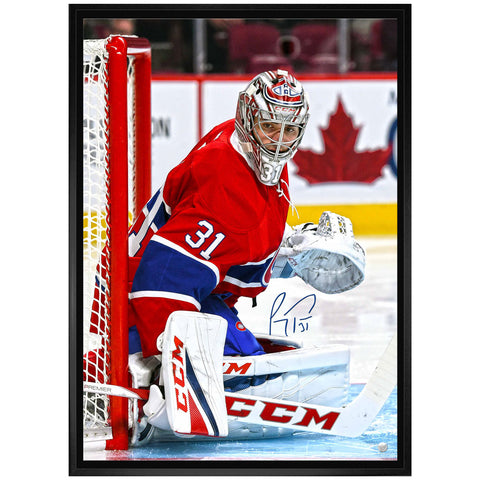 "Price Canadiens Signed ""Looking Right"" on Canvas Framed"