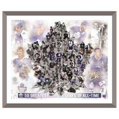 Toronto Maple Leafs Framed 50 Greatest Players Print
