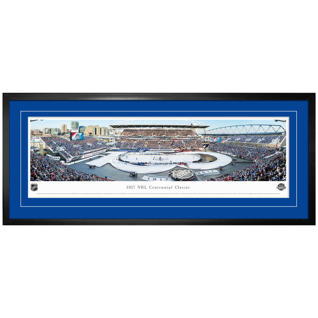 2017 Centennial Classic Game Panorama Framed