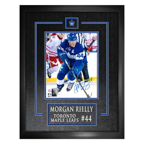 Rielly Leafs Signed Centennial Classic Etched Mat Frame