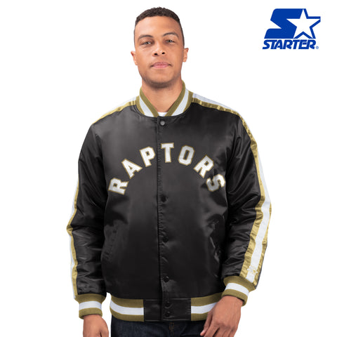 Raptors Starter 2019 NBA Champs Men's Varsity Satin Jacket