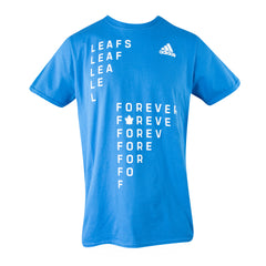 Maple Leafs Adidas Men's 2019 Playoffs Leafs Forever Tee - Blue
