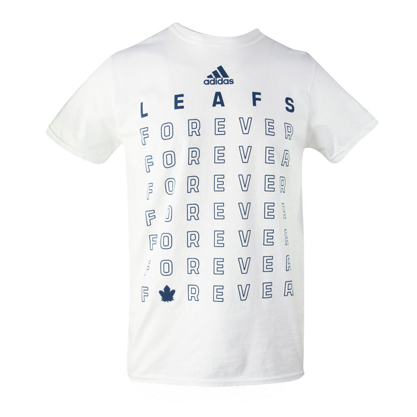 2064d87d7ef Maple Leafs Adidas Men s 2019 Playoffs Leafs Forever Tee - White