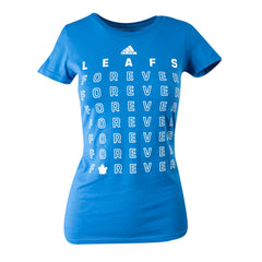 Maple Leafs Adidas Ladies 2019 Playoffs Leafs Forever Tee