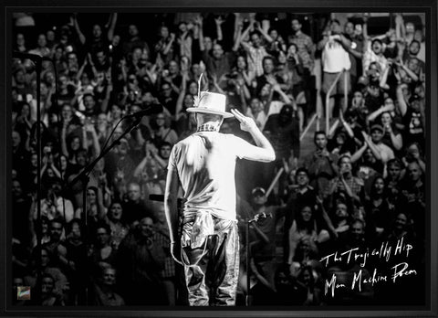 "The Tragically Hip Gord Downie ""Salute"" on Canvas Framed"