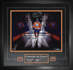 "Oilers Connor McDavid ""The Tunnel"" Signed 16x20 Photo Framed"