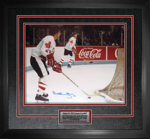 "Team Canada Orr ""76 Team Canada MVP"" Signed 16x20 Photo Framed"