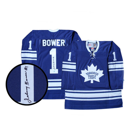 Maple Leafs Bower Signed Replica Vintage Jersey