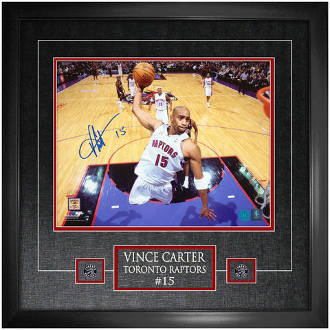 Toronto Raptors Vince Carter Signed 11x14 Photo Framed