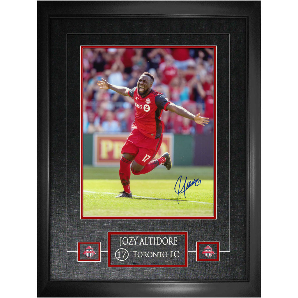 Toronto FC Jozy Altidore Signed 11x14 with Pins Framed