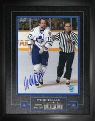 "Maple Leafs Wendel Clark ""Captain Crunch"" Signed 16x20 Photo Framed"