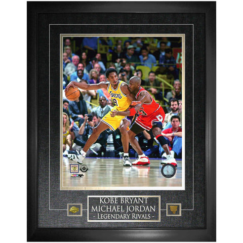 NBA Legends Jordan/Bryant Unsigned 16x20 Photo Framed