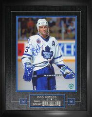 "Maple Leafs Doug Gilmour ""Bloody Warrior"" Signed 16x20 Photo Framed"