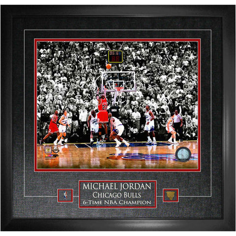"Bulls Michael Jordan Unsigned ""The Shot"" 16x20 Photo Framed"