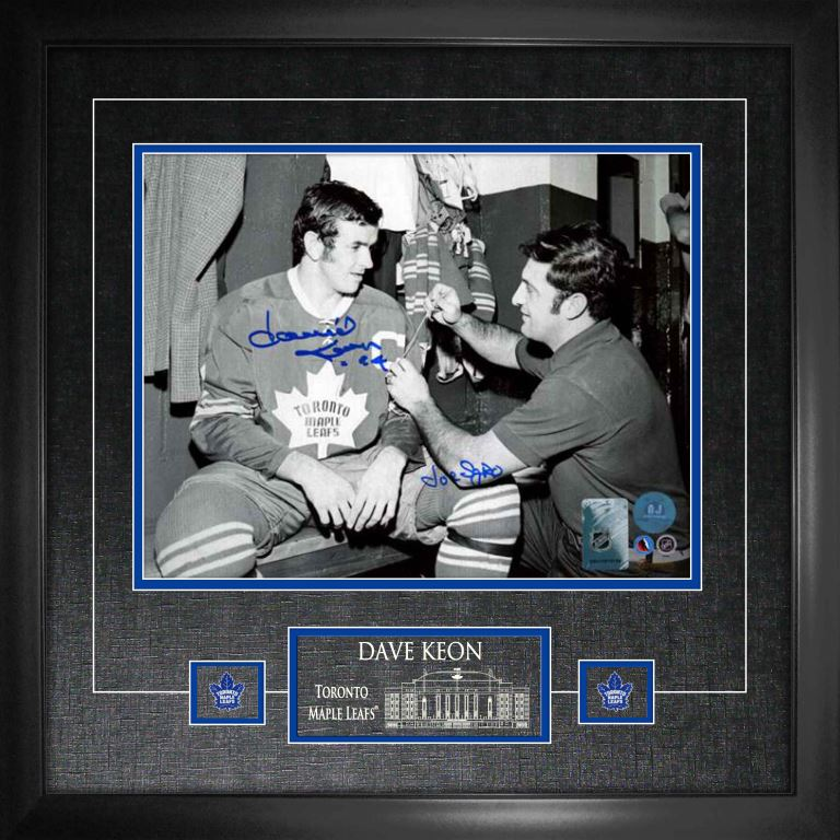 Maple Leafs Dave Keon Signed 11x14 Photo Framed