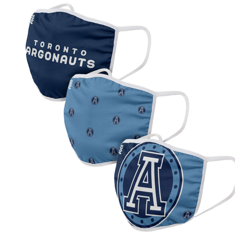 Toronto Argos Youth Cloth Face Covering 3-Pack