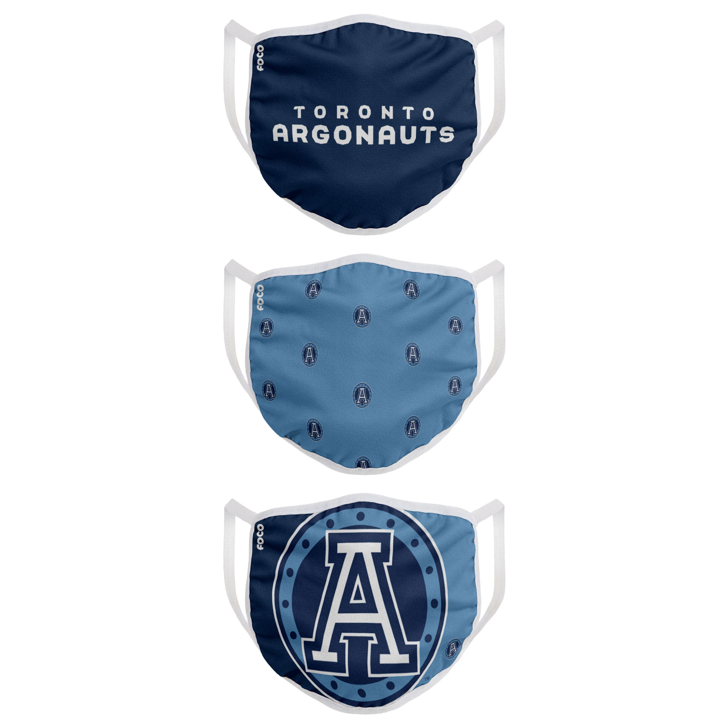 Toronto Argos Youth Cloth Face Covering 3-Pack **PRE ORDER**