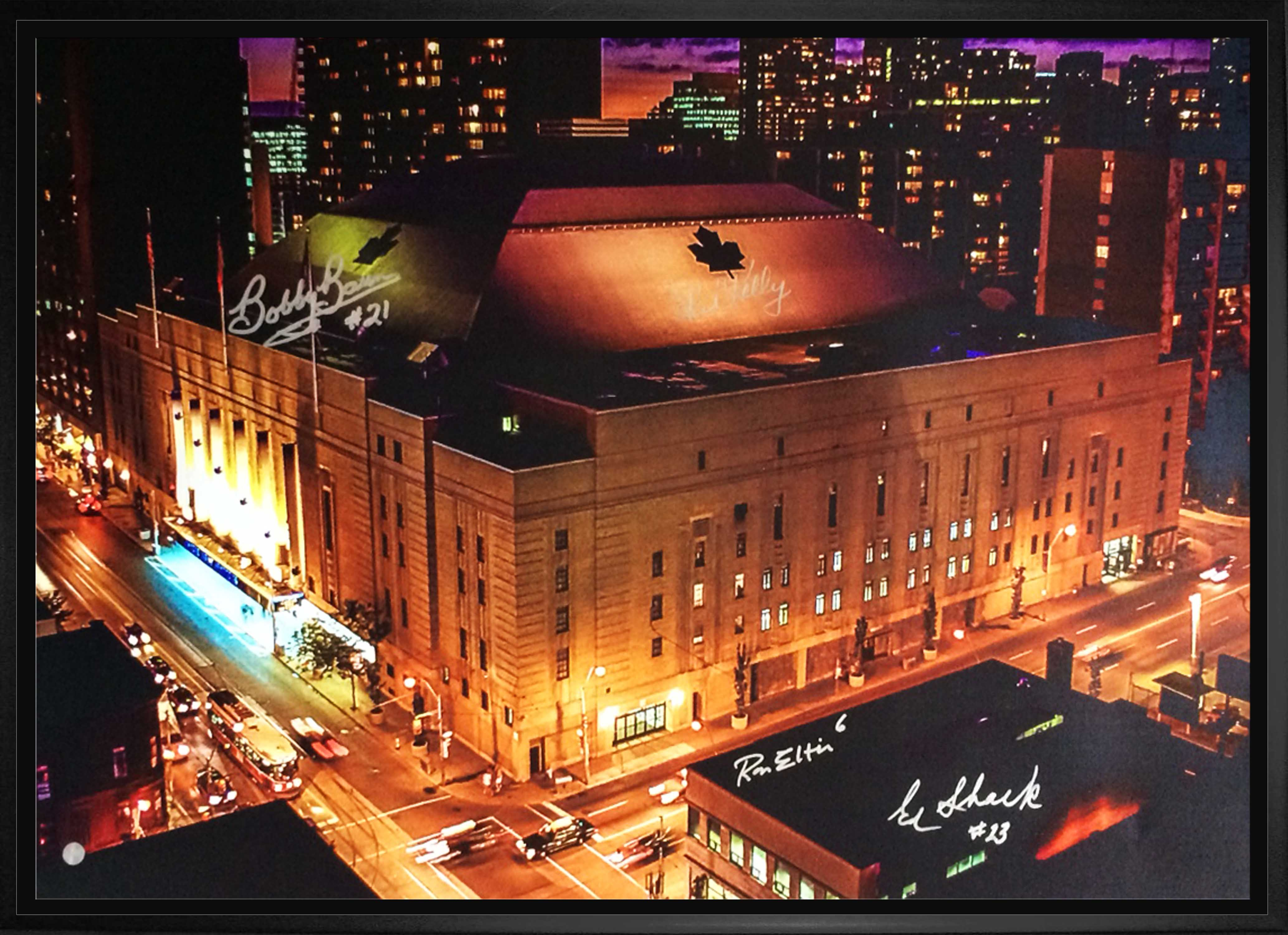 Maple Leaf Gardens Colour Image of Building on Canvas