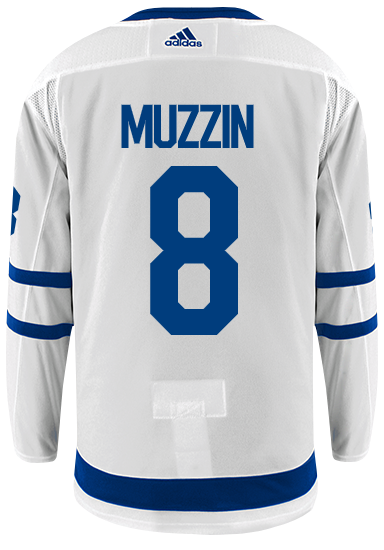 Maple Leafs Adidas Authentic Men's Away Jersey - MUZZIN