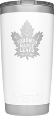 Maple Leafs Yeti Rambler 20oz Tumbler - White