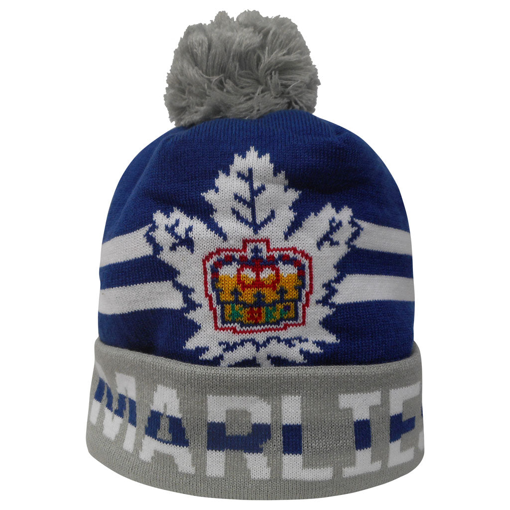 Toronto Marlies Adult Cuffed Pom Toque