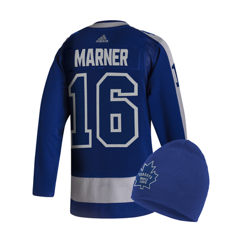 Maple Leafs Adidas Authentic Men's Reverse Retro Jersey + Toque - Marner