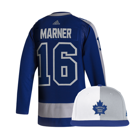 Maple Leafs Adidas Authentic Men's Reverse Retro Jersey + Snapback - Marner