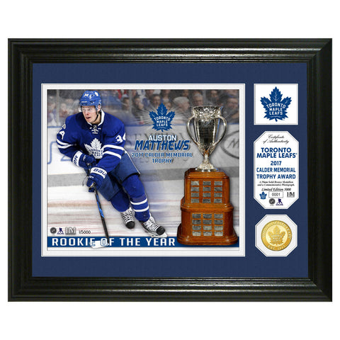 Toronto Maple Leafs Auston Matthews 2017 Calder Commemorative Coin and Photo Frame