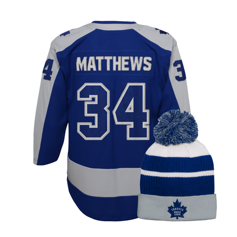 Maple Leafs Youth Special Edition Jersey + Pom Toque - Matthews