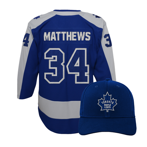Maple Leafs Youth Special Edition Jersey + Hat - Matthews
