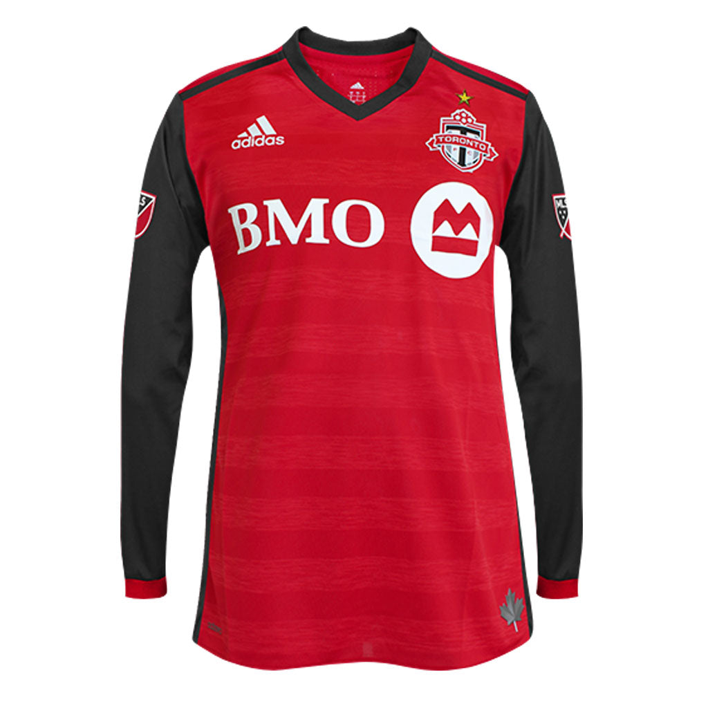 aa3979e344a Toronto FC Adidas Men s Authentic L S Jersey - Red – shop.realsports
