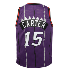 Raptors Infant Mitchell & Ness Swingman HWC Purple Jersey - CARTER