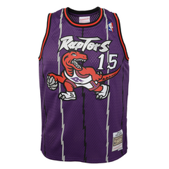 Raptors Child Mitchell & Ness Swingman HWC Purple Jersey - CARTER
