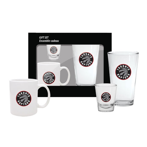 Toronto Raptors 3 Piece Fan Drinkware Set