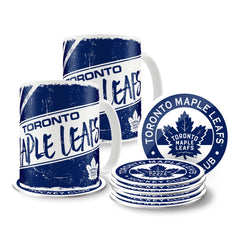 Toronto Maple Leafs 15oz Classic Mug Set with 8 Pack Coasters