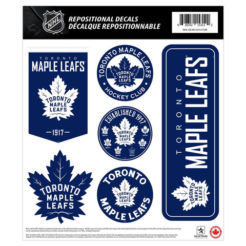 Toronto Maple Leafs 12x14 Repositional Wall Decal Pack