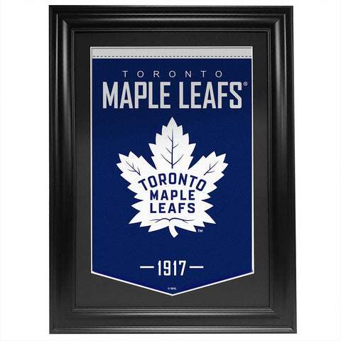 Toronto Maple Leafs 24 x 36 Framed Team Banner