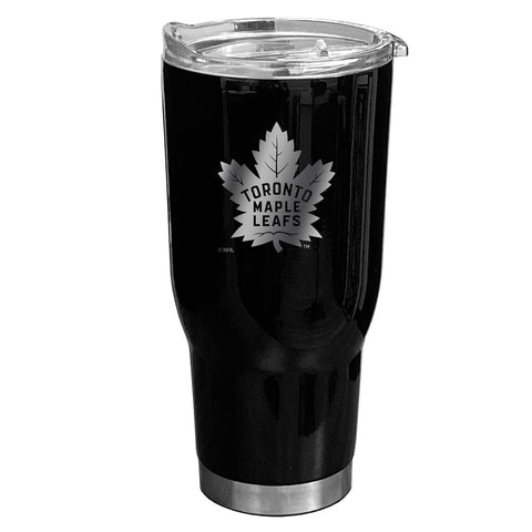 30oz Boss Matte Black Travel Mug - Toronto Maple Leafs