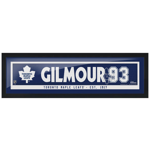 Toronto Maple Leafs Gilmour Alumni Framed Name Bar with Replica Autograph