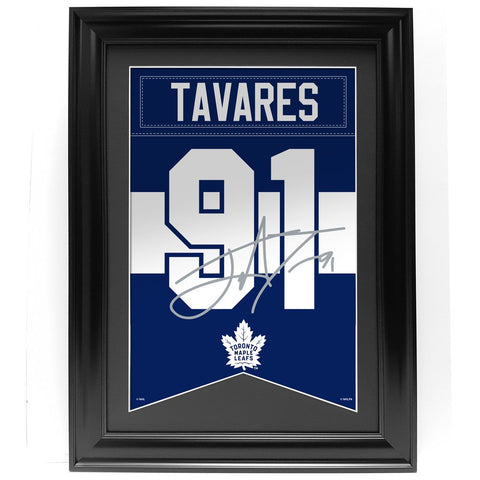 Toronto Maple Leafs 24 x 36 J. Tavares Framed Player Banner