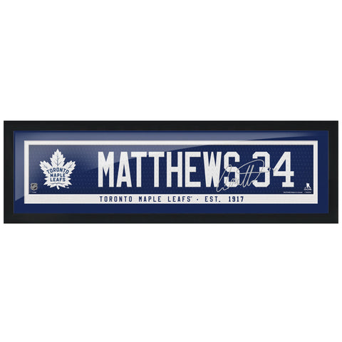 Toronto Maple Leafs Matthews Framed Player Name Bar with Replica Autograph