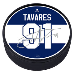 Toronto Maple Leafs Player Textured Puck with Replica Signature - J. Tavares
