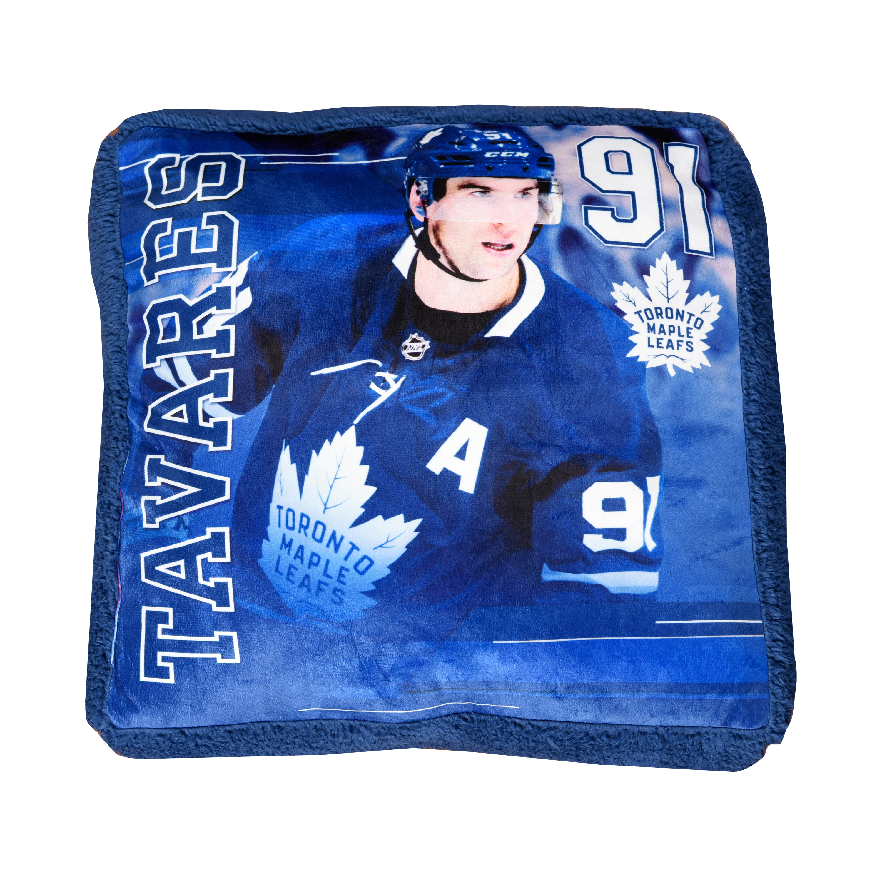 low priced bac3a 962c9 Maple Leafs Tavares Jump Throw Pillow