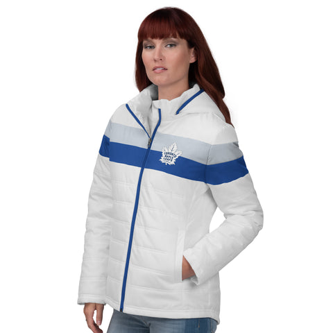 Maple Leafs GIII Ladies Tie Breaker Polyfill Jacket