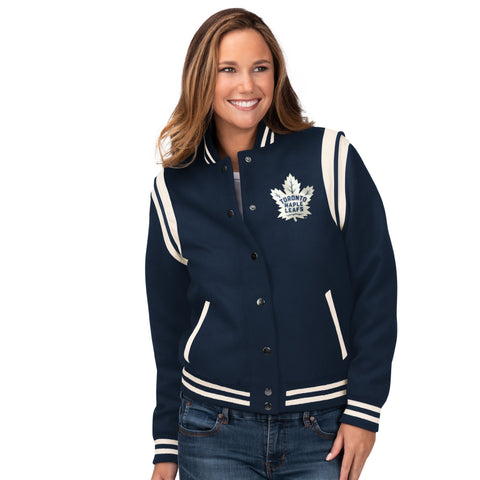 Maple Leafs GIII Ladies Rookie Bomber Jacket