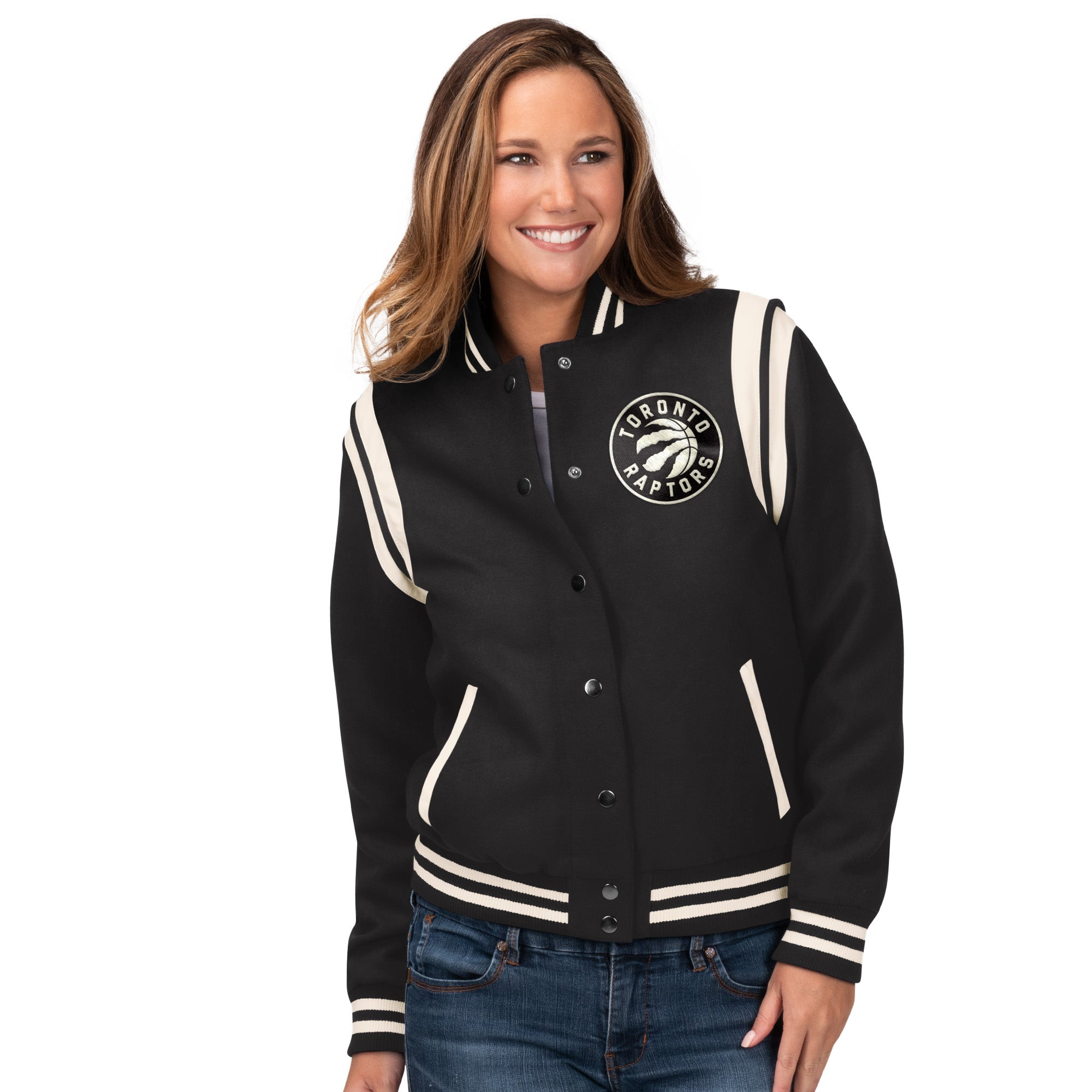 Raptors GIII Ladies Rookie Bomber Jacket
