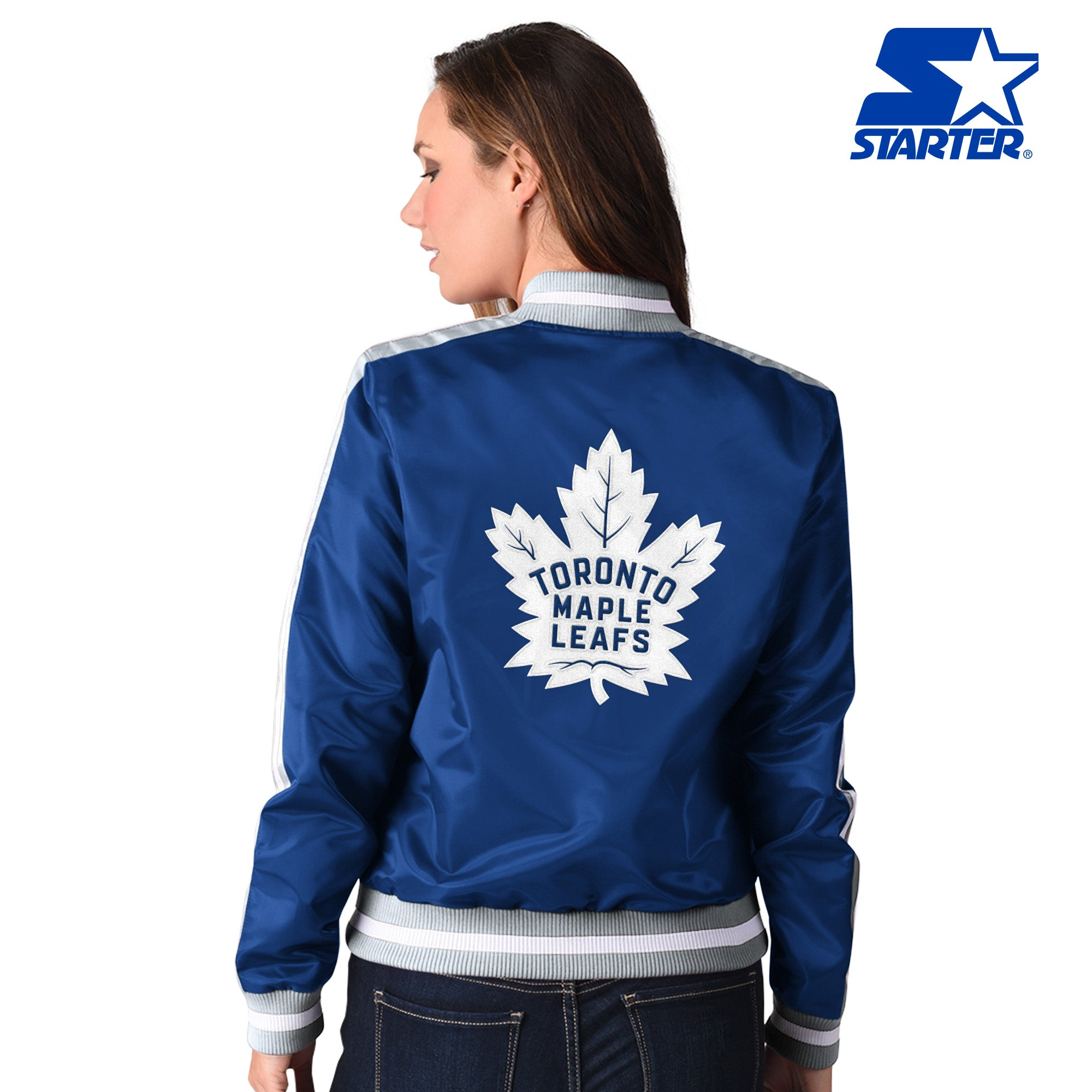 Maple Leafs Starter Ladies Competition Satin Jacket