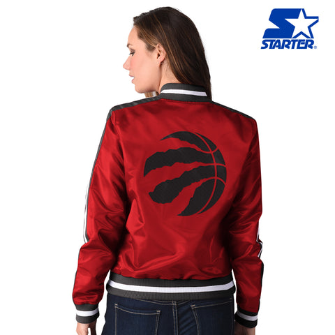 Raptors Starter Ladies Competition Satin Jacket