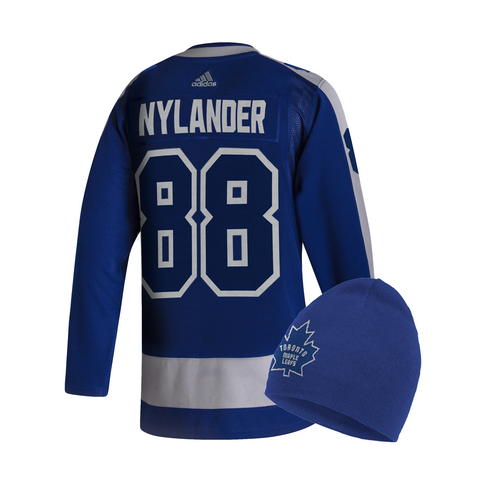 Maple Leafs Adidas Authentic Men's Reverse Retro Jersey + Toque - NYLANDER