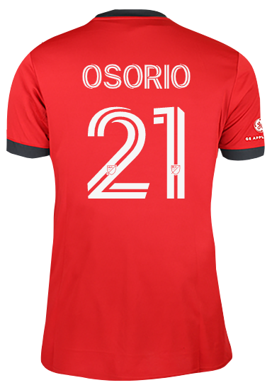Toronto FC Adidas Youth Replica 2021 A41 Home Jersey - OSORIO
